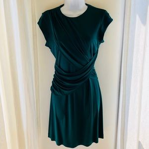 SUSANA MONACO Emerald Green Silk Jersey Dress-2/4